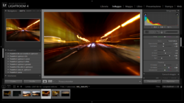 Screenshot di Lightroom 4.4