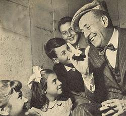Odoardo Spadaro nella trasmissione radio RAI La classe degli asinelli, 1956