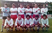 Il Grosseto del 1972-1973, vincitore del campionato di Serie D e promosso in Serie C.