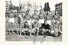 La prima formazione della neonata squadra blucerchiata nel 1946.