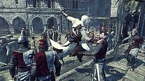 Altaïr durante un assassinio.