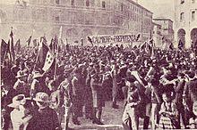 Manifestazione dei Fasci italiani di combattimento Bologna 1921