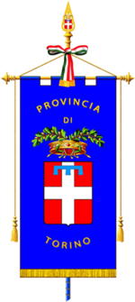 Il gonfalone provinciale.