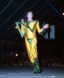 Renato Zero in concerto nel 1978