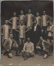 L'Alessandria del 1912, in maglia biancazzurra