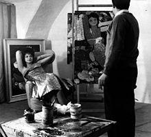 Salvatore Fiume nel 1960 a Canzo, mentre ritrae Laila Rigazzi, da poco eletta Miss Italia