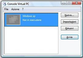 Screenshot di Microsoft Virtual PC