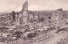 Asiago distrutta, prima guerra mondiale