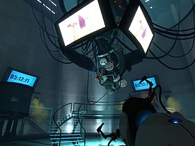GLaDOS in Portal, mentre rilascia la neurotossina