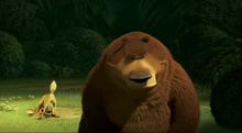 Illustrazione del fumetto degli animali selvatici come l orso