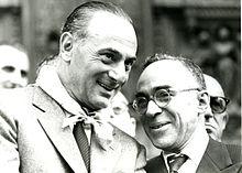 La Pira con Enrico Mattei, presidente dell'ENI