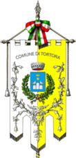 Il gonfalone del comune di Tortora.