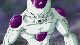 Freezer nella sua forma finale in Dragon Ball: Piano per lo sterminio dei Super Saiyan.