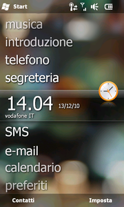 Screenshot di Windows Mobile 6.5