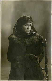 Caterina (Nina) Steffè moglie di Nazario Sauro, 1919