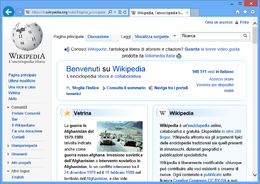 Interfaccia desktop di Internet Explorer 10 su Windows 8