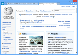 Screenshot di Internet Explorer