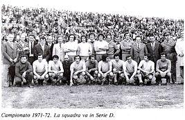 Il Cassino promosso in Serie D nel 1972.