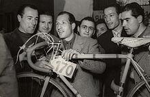 Bartali alla vigilia della Milano-Sanremo 1950