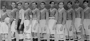 Una formazione della Paganese del campionato 1928-1929.