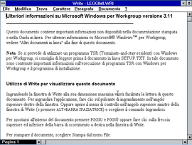 Screenshot di Windows Write