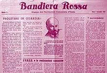 Copertina di Bandiera Rossa, 7 novembre 1943