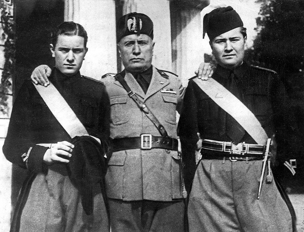 Mussolini e figli