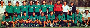 La rosa del Sassuolo 1983-1984, vincitore del Campionato Interregionale e promosso per la prima volta assoluta nel calcio professionistico, in Serie C2.