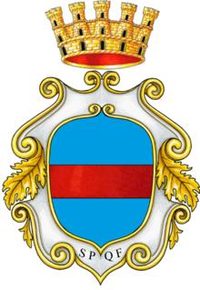 Lo stemma nella versione aulica
