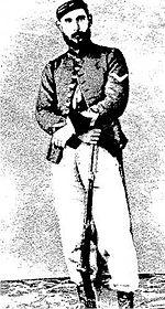 Stefano Pirandello, padre di Luigi, in divisa garibaldina