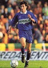 Luca Monari con la maglia della Fidelis nel 1991