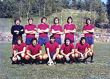 La Reggiana del 1974-1975.