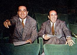 Corrado con il fratello Riccardo Mantoni, regista di molti programmi di Radio Rai