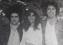 Vince Tempera, Loredana Berté e Mario Lavezzi nel 1978.