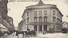 Prima sede dell'Università Bocconi di Milano in largo Treves (oggi via Statuto)