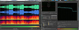 Screenshot di Adobe Audition