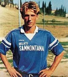 Un giovane Di Francesco all'Empoli tra gli anni 1980 e 1990