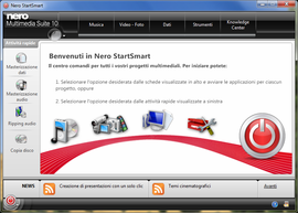 Screenshot di Nero Multimedia Suite