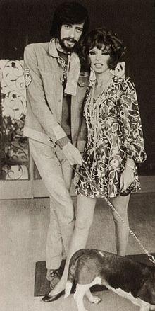 Shel Shapiro con la moglie Maria Lina Carreri nel 1969