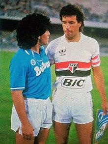 Careca e Maradona, em 1987