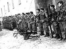 Un gruppo di Arditi Incursori nel 1952