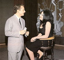 Johnny Dorelli e Mina durante la trasmissione Johnny 7 (1964)