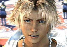 Tidus durante un filmato in Final Fantasy X
