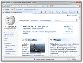 Screenshot di Windows Internet Explorer 8