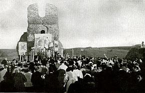 Processione per la riconsacrazione della chiesa di Sant'Urbano il 25 maggio 1894