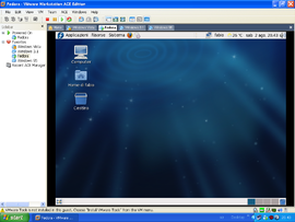 Screenshot di VMware Workstation