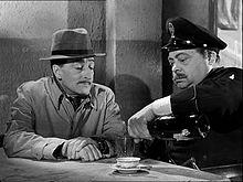 Aldo Fabrizi con Totò in una scena di Guardie e ladri (1951), di Steno e Monicelli