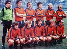 La Pistoiese del 1980-1981, nella sua unica apparizione in Serie A.