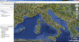 L'Italia vista da Google Earth.
