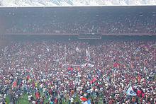 La festa per la contemporanea promozione in Serie A di Napoli e Genoa nel 2007